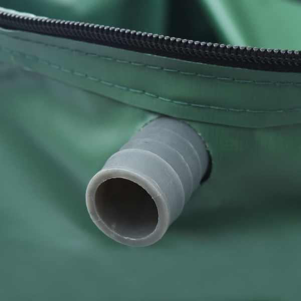 vidaXL Rezervor de apă de ploaie pliabil cu cep, 1500 L