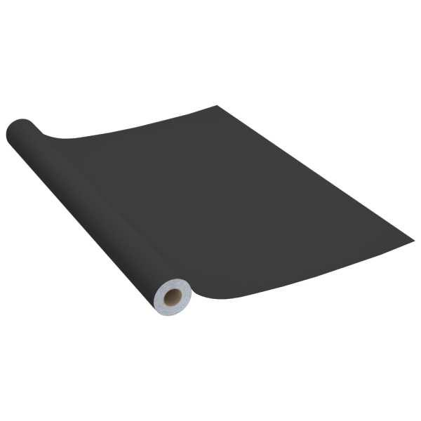 vidaXL Folie de mobilier autoadezivă, negru, 500 x 90 cm, PVC
