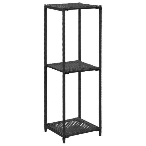 vidaXL Raft de depozitare, negru, 30 x 30 x 90 cm, poliratan