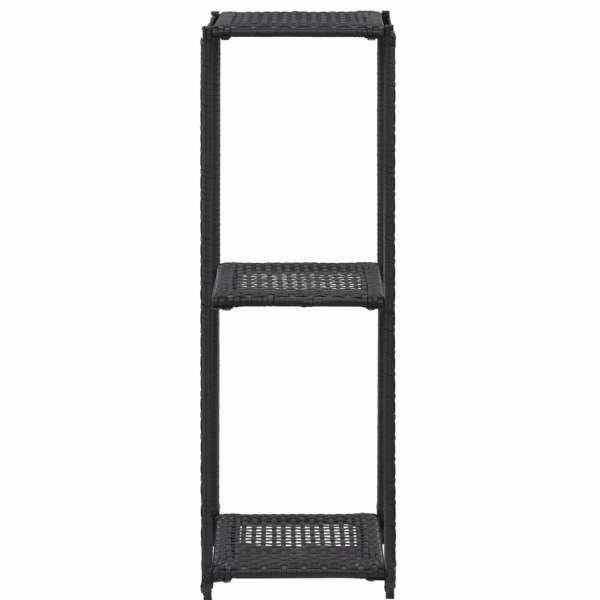 Raft de depozitare, negru, 30 x 30 x 90 cm, poliratan