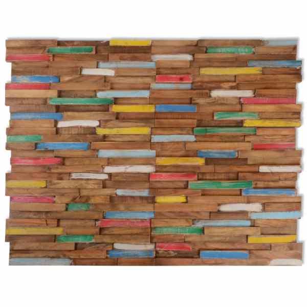 Panouri de placare pereți, 20 buc., 2 m², lemn de tec