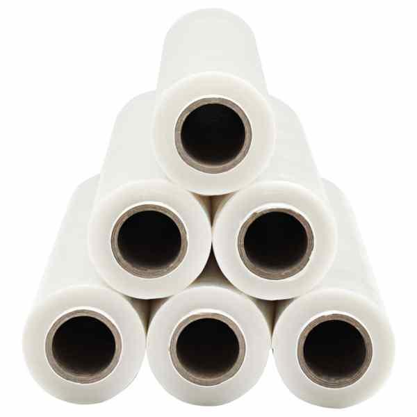 Role de folie pentru paleți, 6 buc., transparent, 23 µm, 624 m