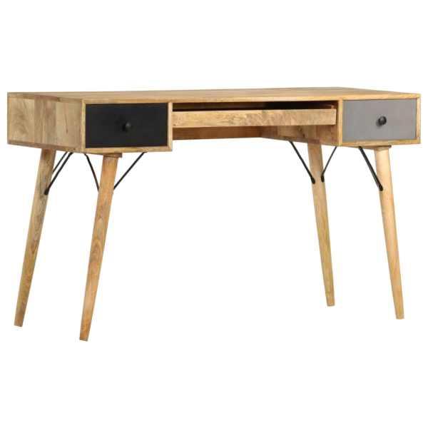 vidaXL Birou cu sertare, 130 x 50 x 80 cm, lemn masiv de mango