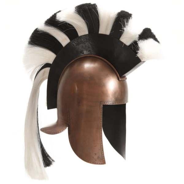 vidaXL Coif războinic grec, antichizat, jocuri pe roluri, arămiu, oțel