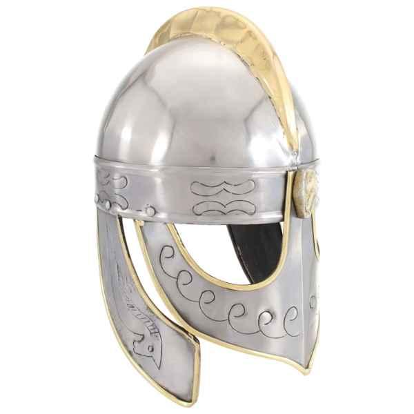 vidaXL Coif cavaler antichizat Beowulf jocuri pe roluri argintiu oțel