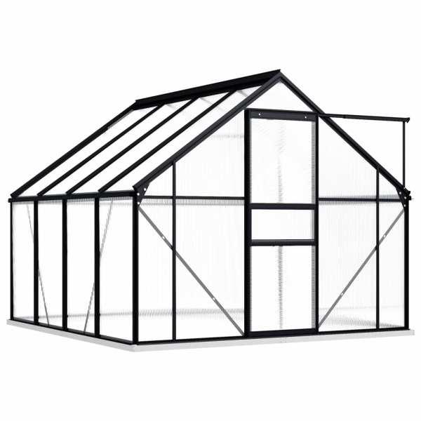 Seră cu cadru de bază, antracit, 4,75 m², aluminiu