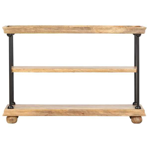 vidaXL Bibliotecă cu 2 rafturi, 110x35x75 cm, lemn de mango și oțel