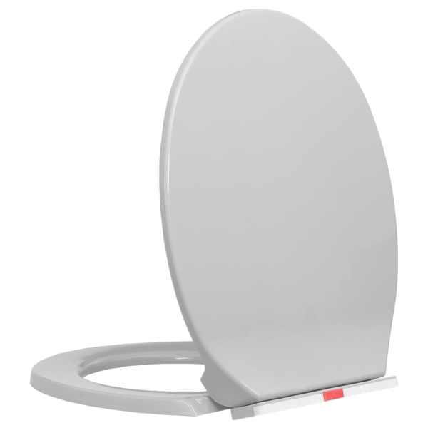 vidaXL Capac WC închidere silențioasă eliberare rapidă gri deschis