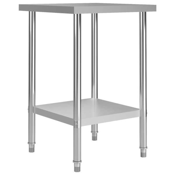 vidaXL Masă de lucru bucătărie, 60 x 60 x 85 cm, oțel inoxidabil