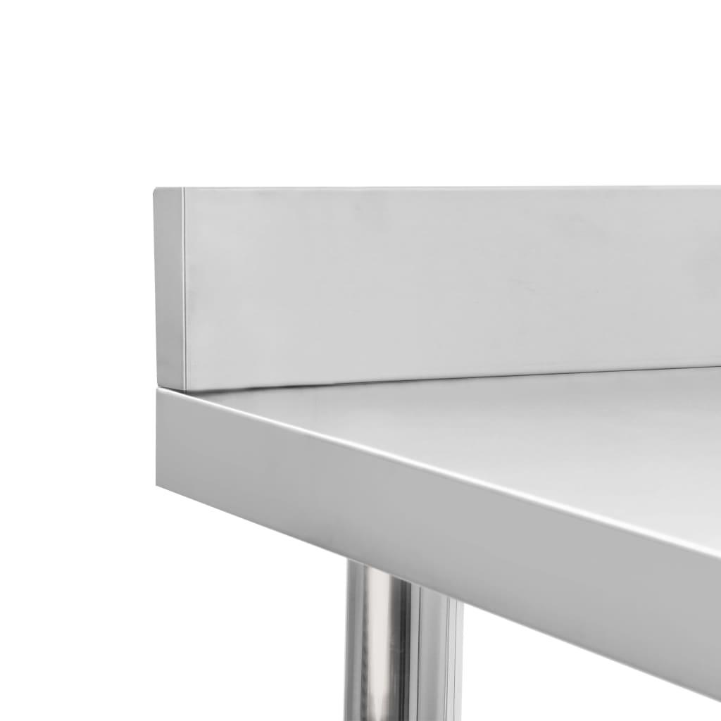 vidaXL Masă de lucru bucătărie bordură antistropire 60x60x93 cm oțel