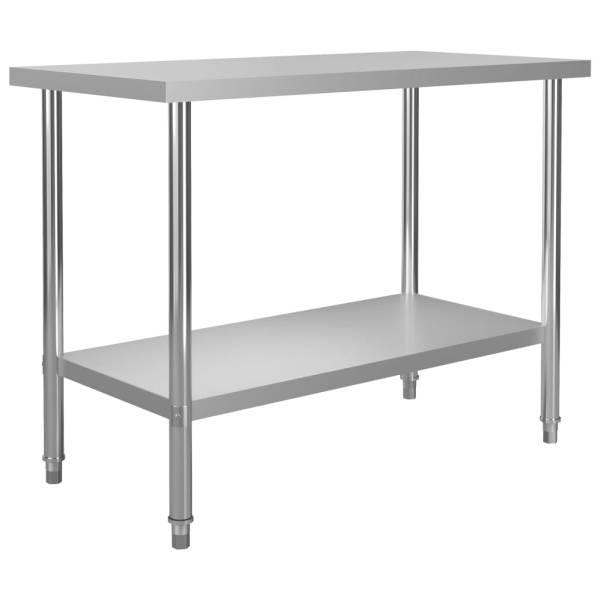 vidaXL Masă de lucru bucătărie, 120 x 60 x 85 cm, oțel inoxidabil