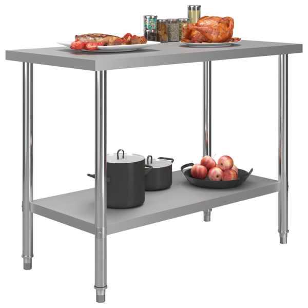 Masă de lucru bucătărie, 120 x 60 x 85 cm, oțel inoxidabil