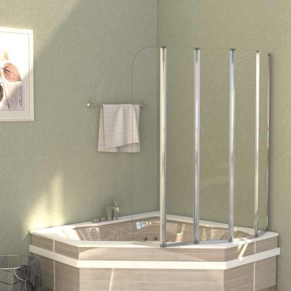 vidaXL Cabină de baie, 120 x 140 cm, sticlă securizată, transparent