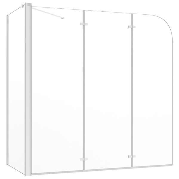 vidaXL Cabină de baie, 120x69x130 cm, sticlă securizată, transparent