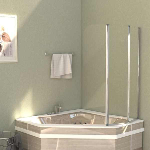 vidaXL Paravane de baie 2 buc. 104x130cm sticlă securizată transparent