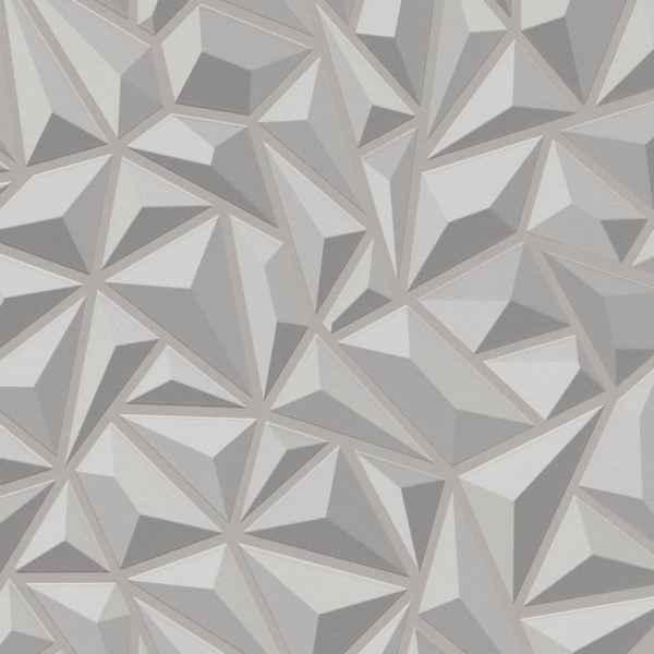 vidaXL Role de tapet nețesut 4 buc. alb 0,53 x 10 m grafic
