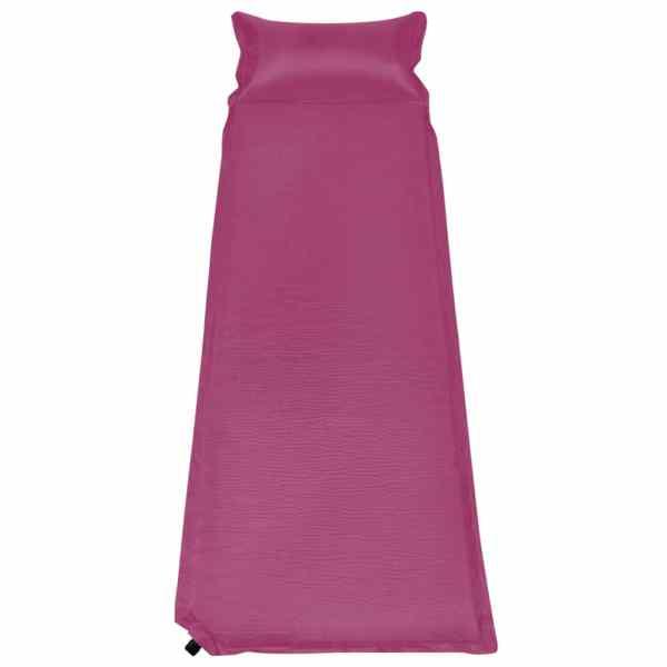 vidaXL Saltea gonflabilă cu pernă, roz, 66 x 200 cm
