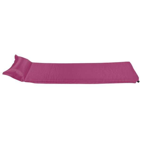vidaXL Saltea gonflabilă cu pernă, roz, 55 x 185 cm