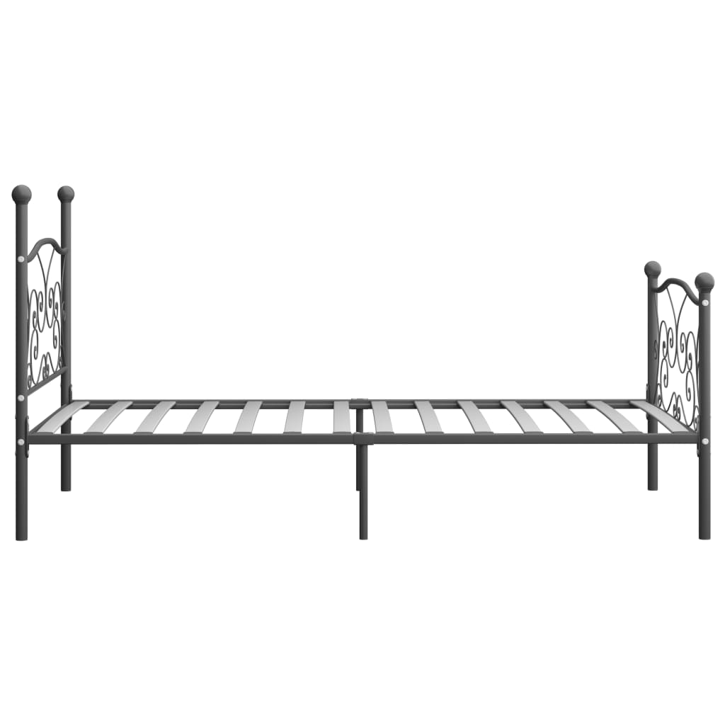 Cadru de pat, gri, 100 x 200 cm, metal