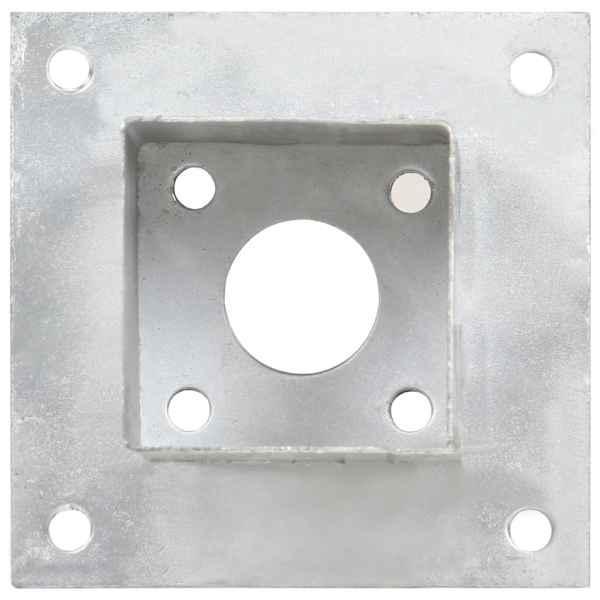 Suporți stâlp, 4 buc., metal galvanizat, 81 mm