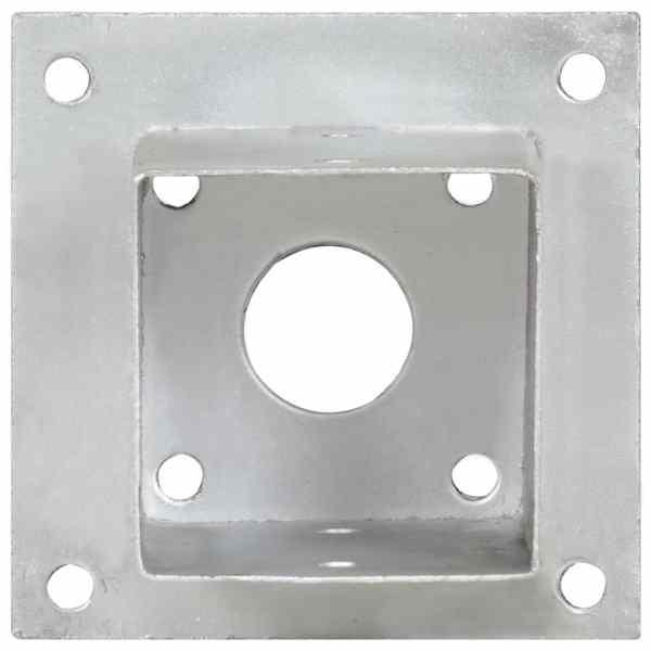 vidaXL Suporți stâlp, 4 buc., metal galvanizat, 91 mm