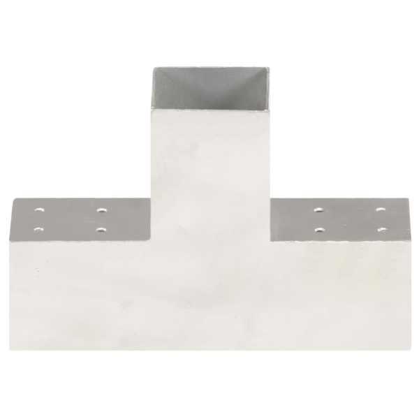 vidaXL Conector de grindă, formă T, 81 x 81 mm, metal galvanizat