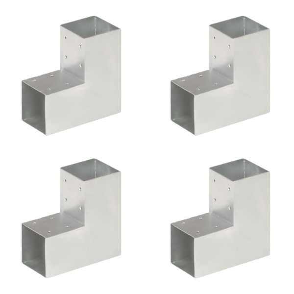 vidaXL Conectori de grindă, formă L, 4 buc, 91×91 mm, metal galvanizat