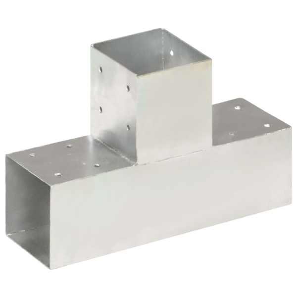 vidaXL Conector de grindă, formă T, 91 x 91 mm, metal galvanizat