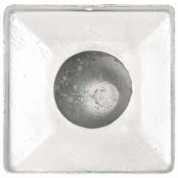 vidaXL Capace stâlpi tip glob, 6 buc., 71 x 71 mm, metal galvanizat