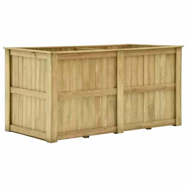 vidaXL Jardinieră înaltă, 196 x 100 x 100 cm, lemn de pin tratat