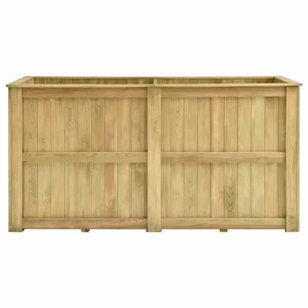 Jardinieră înaltă, 196 x 100 x 100 cm, lemn de pin tratat