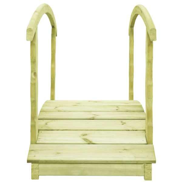 Pod de grădină cu balustradă, 170x74x105 cm, lemn de pin tratat
