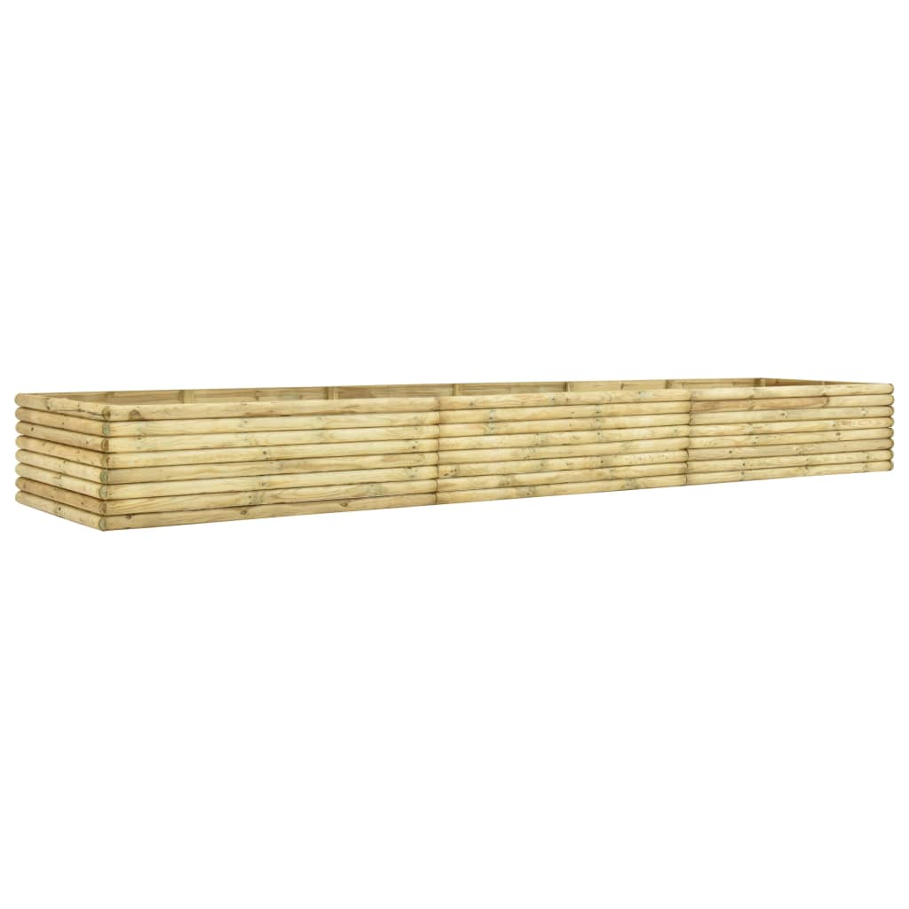Strat înălțat de grădină, 450x100x48 cm, lemn pin tratat, 19 mm