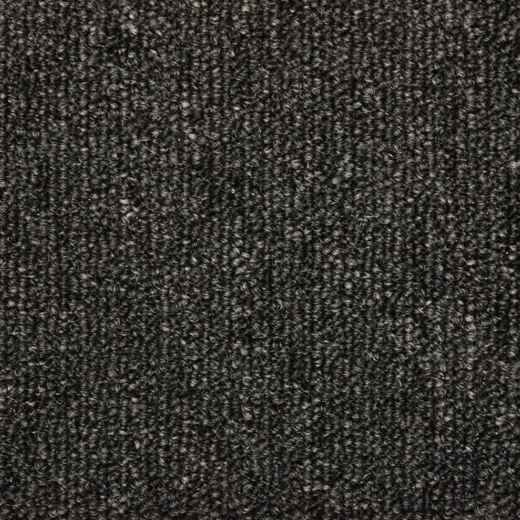 Covorașe de trepte de scară, 15 buc., antracit, 65 x 25 cm
