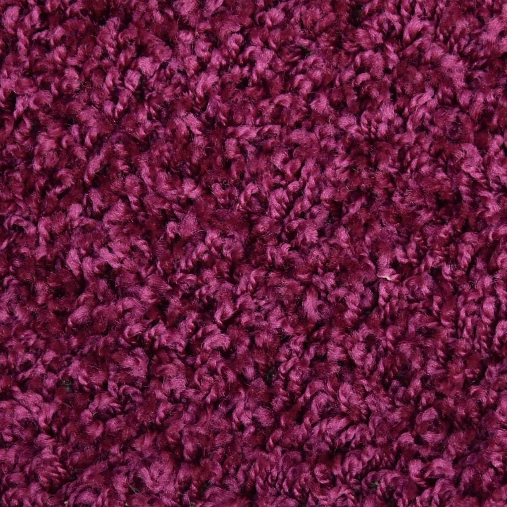 Covorașe de trepte de scară, 15 buc., violet, 65 x 25 cm
