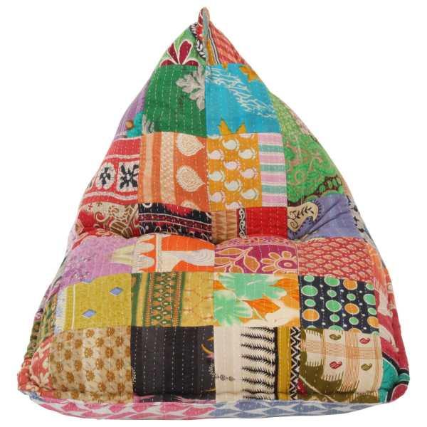 Canapea tip sac, multicolor, material textil, petice