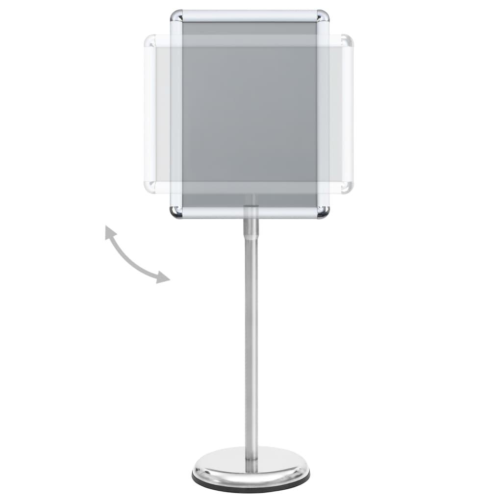 vidaXL Suport de afiș A3 cu picior, argintiu, aliaj de aluminiu