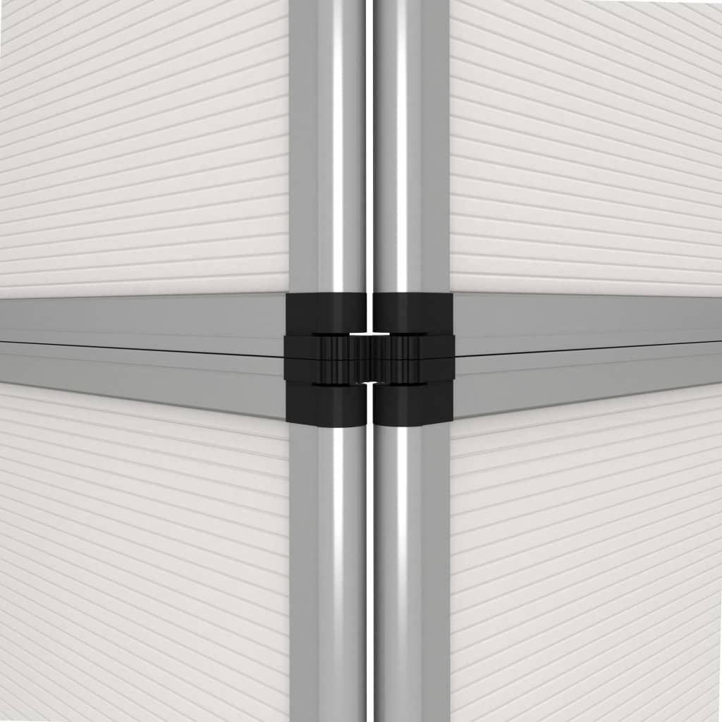 vidaXL Perete de afișaj pliabil cu 12 panouri, alb, 242 x 200 cm
