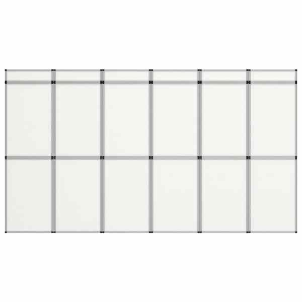 vidaXL Perete de afișaj pliabil cu 18 panouri, alb, 362 x 200 cm