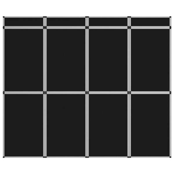 vidaXL Perete de afișaj pliabil cu 12 panouri, negru, 242 x 200 cm