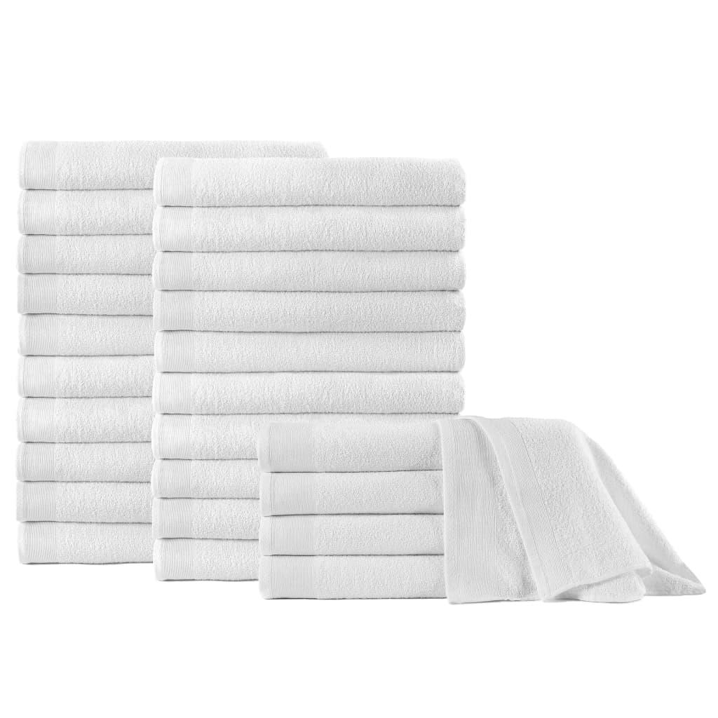 vidaXL Prosoape de saună, 25 buc., alb, 80 x 200 cm, bumbac, 350 gsm