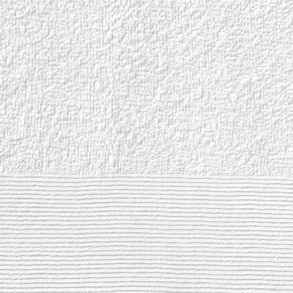 Prosoape de mâini, 10 buc., alb, 50 x 100 cm, bumbac, 350 gsm