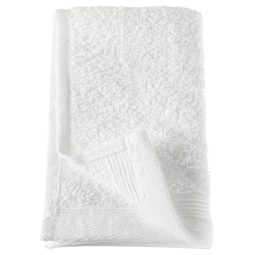 Prosoape oaspeți, 10 buc., alb, 30 x 50 cm, bumbac, 450 gsm