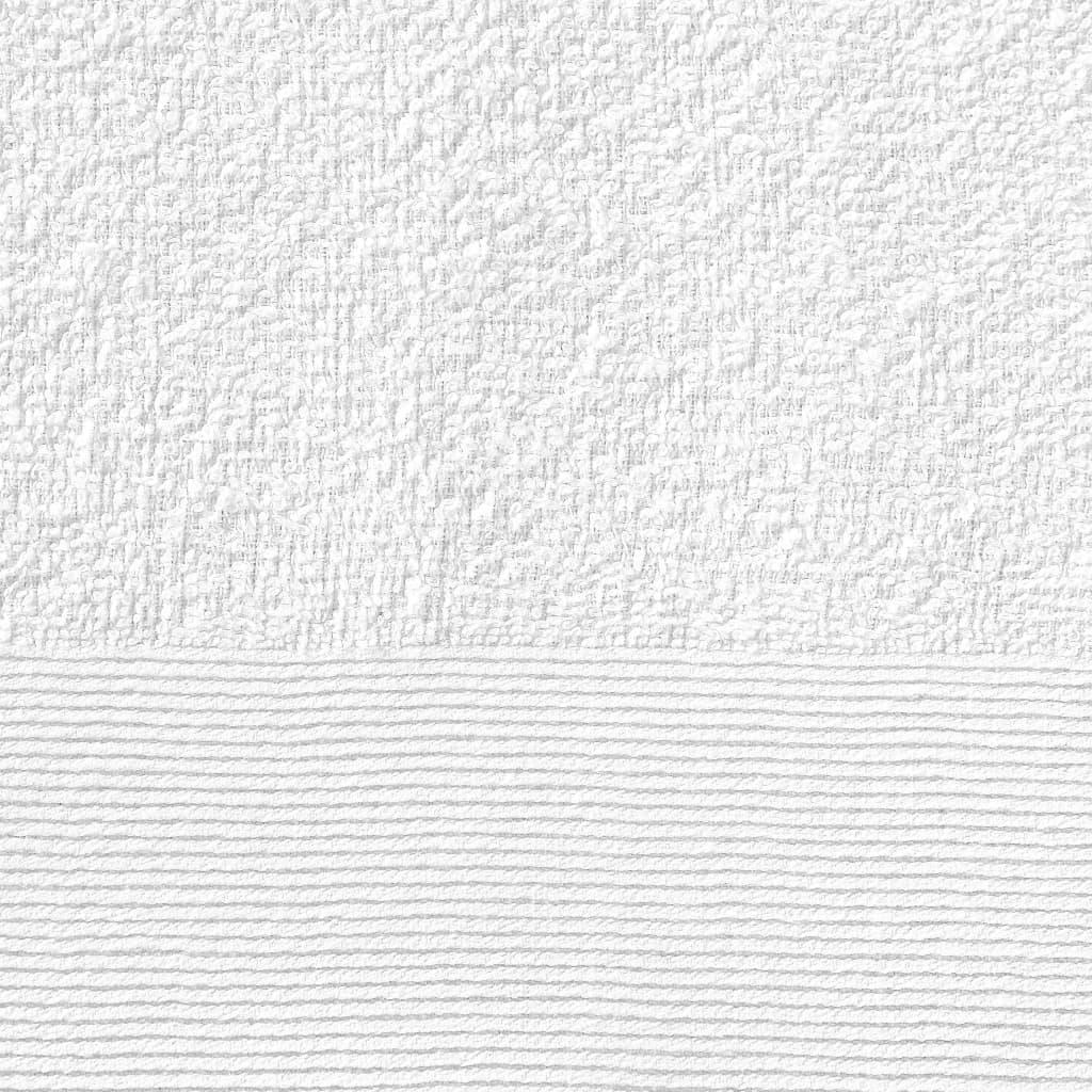 Prosoape de baie, 5 buc, alb, 100 x 150 cm, bumbac, 450 gsm