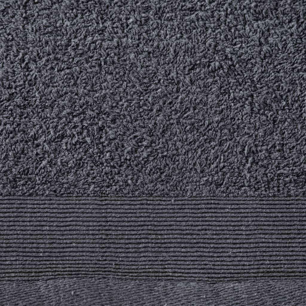 Prosoape de mâini, 2 buc., antracit, 50×100 cm, bumbac, 450 gsm