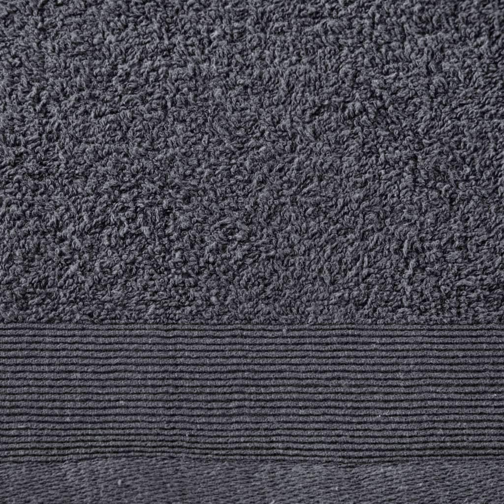 Prosoape de duș, 5 buc., antracit, 70 x 140 cm, bumbac, 450 gsm