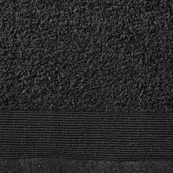 Set prosoape de baie, 2 buc, negru, 100×150 cm, bumbac, 450 gsm