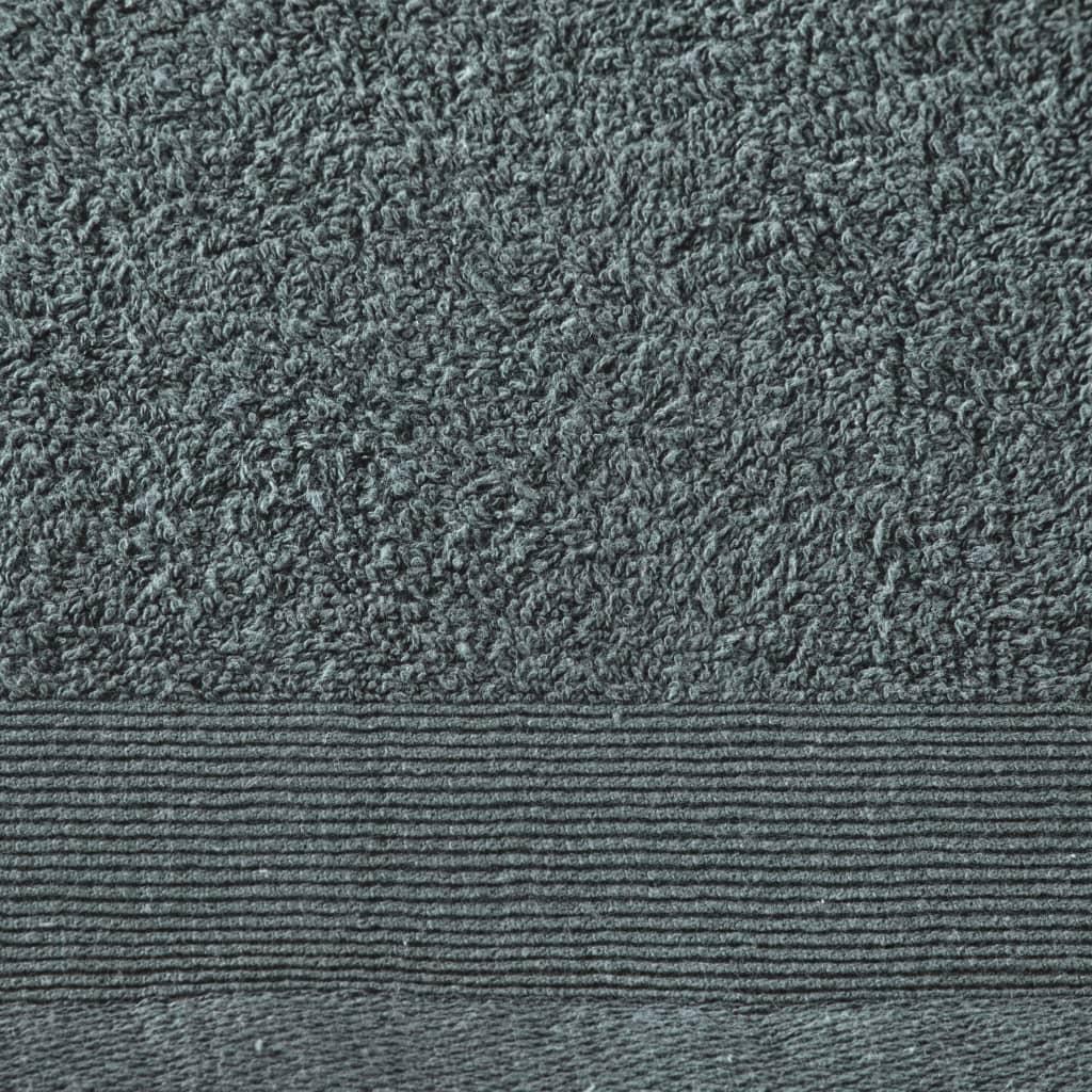 Set prosoape de baie, 5 buc, verde, 100×150 cm, bumbac, 450 gsm