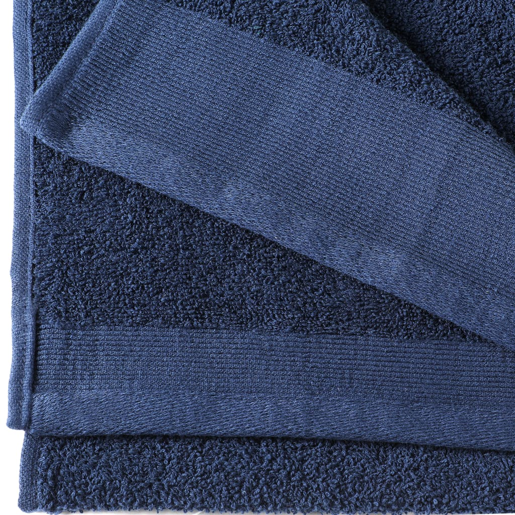 Prosoape de mâini, 2 buc, bleumarin, 50×100 cm, bumbac, 450 gsm