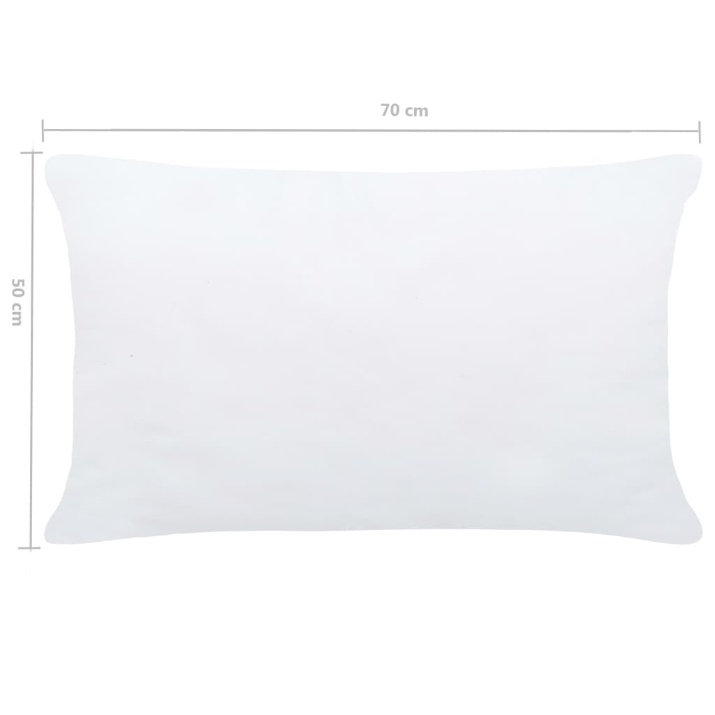 Umpluturi de perne, 2 buc., alb, 70 x 50 cm